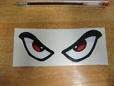 Evil Eyes sticker/decal - 125mm x 50mm - car / van / motorcycle / helmet