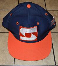 Vtg Syracuse Orangemen The Game Fitted Hat 7 3/8 Retro Orange Basketball