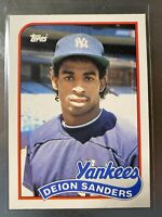DEION SANDERS 1989 Topps Traded #110T ROOKIE RC NY Yankees Baseball Card