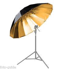 Studioschirm Reflexschirm schwarz / gold Ø 180 cm Umbrella Reflector