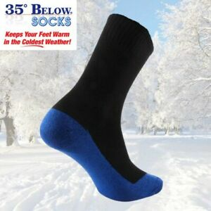 35 Below Unisex One Pair Thermal Winter Aluminized Socks Black Blue Red Pink