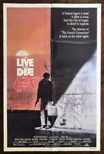 TO LIVE AND DIE IN L.A. 1985 Willem Defoe Cult Crime Drama ORIGINAL MOVIE POSTER