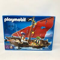 NIB Playmobil #4444 Pirate Ship Dinghy Play Set Skull Pirates Sailing Pirates