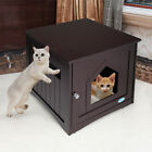 Wooden+Side+Table+Pet+Cat+House+Litter+Box+Enclosure+Indoor+Sidetable+Nightstand