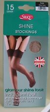 Super Shine Gloss Stockings by Silky. 15 Denier. One Size. Nude