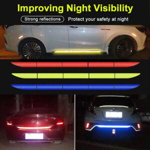 5X Car Reflective Warning Strip Tape Bumper Sticker Truck Safety Reflector Decal