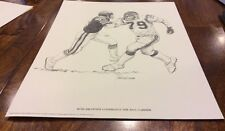 1981 Shell Oil Company Ross Browner Confronts The Ball Carrier Print! Nice!!