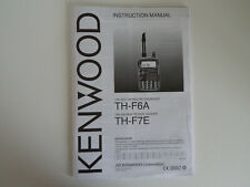 KENWOOD TH-F6A-TH-F7E (ENGLISH & SPANISH) (MANUAL ONLY)...RADIO_TRADER_IRELAND.
