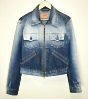 LEVIS DENIM JACKET ZIP TRUCKER STYLE LADIES WOMENS GIRLS VINTAGE RETRO size L