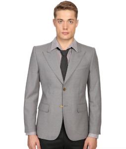 Marc Jacobs Grey Sutton Suiting Blazer Jacket Men's Size 48 1013