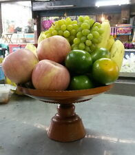 Phan Buddha Pedestal Tray Teak Wood Lathe Altar Buddha Temple & Fruit Tray #3