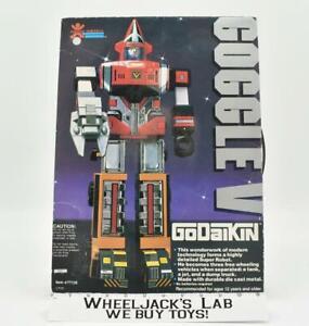 Goggle V #77126 MINTY FIGURES W Box 100% Complete Godaikin 1982 Bandai Popy Co.