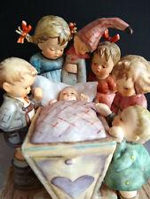 Goebel Hummel Figurine Rock A Bye #574 Children Baby Crib Tmk7 Mint Free Ship
