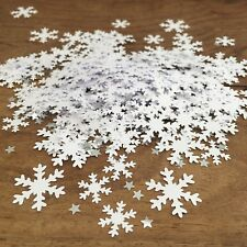 CHRISTMAS White Snowflake CONFETTI | Festive |Party | Table Sprinkles Decoration