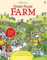 Sticker Puzzle Farm (Sticker Puzzles), Susannah Leigh, Very Good Book