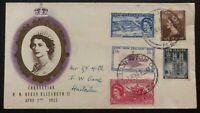 1953 Wellington New Zealand QE II Coronation First Day Cover Queen Elizabeth Loc