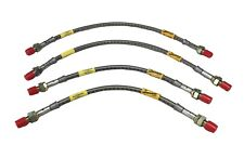 Four New Stainless Brake Line Hose Set Brakes Triumph Spitfire 1973-80 Goodridge