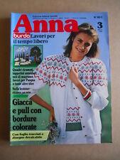 ANNA Burda n°3 1982 con cartamodelli  [C60]