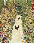 Print -     Garden Path with Chickens by Gustav Klimt