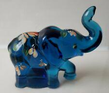 Fenton LENOX Glass Indigo, The Little Blue Elephant ~ Beautiful