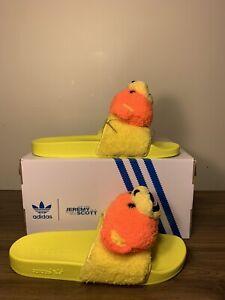 adidas jeremy scott teddy bear slides Yellow  Men's Size 13 Q46582