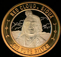 .999 Silver Strike • Colorado • Locations, CO • Red Cloud, Sioux • Frosted