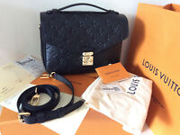 NIB LOUIS VUITTON BLACK METIS POCHETTE HANDBAG