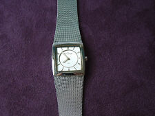 LADIES SKAGEN  SILVER TWO-TONE MESH WATCH BAND MF# 583XSGSC ORG. $100