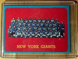 ORIGINAL 1963 TOPPS #60 NEW YORK GIANTS TEAM FOOTBALL CARD NFL EASTERN CHAMPS !