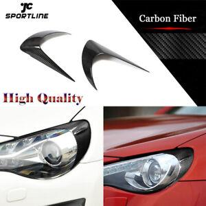 Fit For Toyota 86 Subaru BRZ 12-18 Front Headlight Eyelids Eyebrow Carbon Fiber