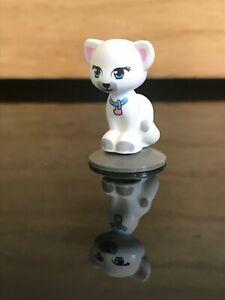 Lego White Cat Sitting Azure Eyes (Jewel) Friends / Elves Animal Land 11602pb02