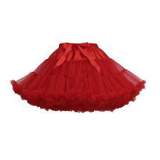 Adult Tutu Fluffy Pettiskirt Ballet Dance Party Skirt Dress Women's Dancewear