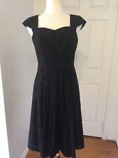NWT Black By Saks Fifth Avenue Black Eyelet Dress Size 6
