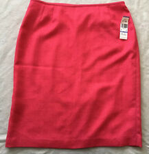 Suit Studio by LE SUIT Pink Polyester Lined Pencil Skirt Size 18 Women's
