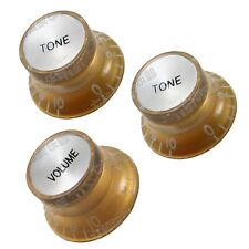 A Set of 3 Pcs Golden Speed Control Knobs for Electric Guitar (1 Volume& 2 Tone)