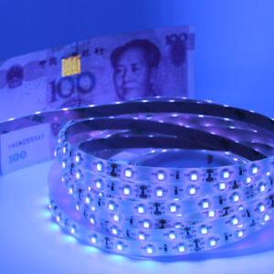 5m UV LED Strip Light Waterproof 3528 SMD 60led/m Blacklight DC 12v tape lamp