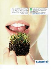 Publicité Advertising 108  2002    Hypermarché E. Leclercq   aliments Bio