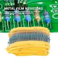 2000pcs 1/4Watt 100 Valori 1ohm~1M Resistenze A Film Metallico Assortimento Set