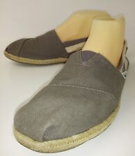 Toms 300815 Wos Shoes Flats US8.5 Gray White Striped Beach Espadrilles 2039