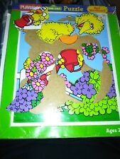 1988 sesameStreet playskool big bird 9 piece wooden frame tray puzzle New Sealed