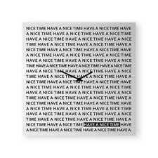 dESIGNoBJECT Orologio da muro Nice Time bianco 80x80 cm