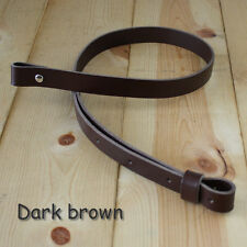 "1"" Leather Rifle Gun Sling - adj 36"" to 42"" Dark Brown_Handmade_FREE SHIPPING"