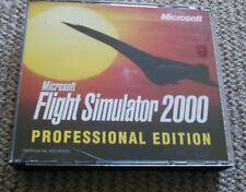 Microsoft Flight Simulator 2000 Professional Edition with free post