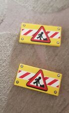 Road Sign Post Rare bb307pb06 Lego Vintage Pedestrian Crossing