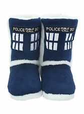 BBC Doctor Who TARDIS SLIPPERS - Tardis Boot Slippers - DOCTOR WHO SLIPPERS