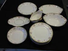 CH FIELD HAVILAND LIMOGES GOA FRANCE 13 Piece White China Dish Set Blue Bows