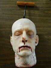 HALLOWEEN HORROR MOVIE PROP LIfe SizeSevered Head 3D Wall Art - Meat Hooked Matt