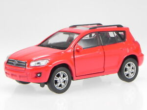 Toyota RAV4 3. Generation 2006-2009 red diecast model car 43640 Welly 1:39