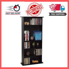 Media Cabinet Wall Unit Storage Rack Shelf CD DVD Blu Ray Video Games Shelves