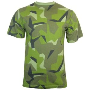 Swedish Camouflage T-Shirt - 100% Cotton Army Military Top All Sizes New